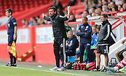 Derek McInnes during the Pre-Season Friendly match between Aberdeen and Brighton and Hove Albion at Pittodrie Stadium, Aberdeen, Scotland on 26 July 2015.