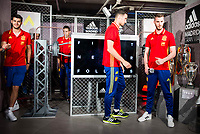 Morata, Sergio Rico and De Gea during the opening of the corner of the Spanish team in its new Adidas Store Gran Vía in Madrid. June 05 2016. (ALTERPHOTOS/Borja B.Hojas)