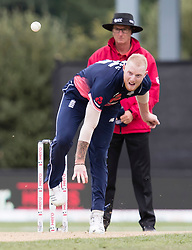 England's Ben Stokes bowls a delivery against New Zealand in the fourth one day cricket international at the University of Otago Oval, Dunedin, New Zealand, Wednesday, March 7, 2018. Credit:SNPA / Adam Binns ** NO ARCHIVING**