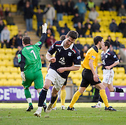 Carl Finnigan celebrates his goal - Livingston v Dundee, IRN BRU Scottish Football League, First Division - ..© David Young - .5 Foundry Place - .Monifieth - .Angus - .DD5 4BB - .Tel: 07765 252616 - .email: davidyoungphoto@gmail.com.web: www.davidyoungphoto.co.uk