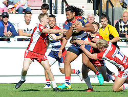 Thretton Palamo of Bristol United - Mandatory by-line: Paul Knight/JMP - 02/10/2016 - RUGBY - Hyde Park - Taunton, England - Bristol United v Gloucester United - Aviva A League