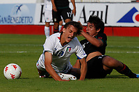 FOOTBALL - UNDER 20 - INTERNATIONAL TOULON FESTIVAL 2011 - 3RD PLACE - MEXICO v ITALY - 10/06/2011 - PHOTO PHILIPPE LAURENSON / DPPI - GABBIADINI MANOLO (ITA) / JORGE VALENCIA (MEX)