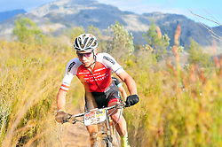 WELLINGTON SOUTH AFRICA - MARCH 22: Daniel Geismeyr during stage three's 111km from Wellington to Worcester on March 22, 2018 in Western Cape, South Africa. Mountain bikers gather from around the world to compete in the 2018 ABSA Cape Epic, racing 8 days and 658km across the Western Cape with an accumulated 13 530m of climbing ascent, often referred to as the 'untamed race' the Cape Epic is said to be the toughest mountain bike event in the world. (Photo by Dino Lloyd)