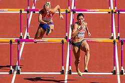 11-08-2017 IAAF World Championships Athletics day 8, London<br /> Sharona Bakker NED (100m horden) plaatst zich niet voor de volgende ronde