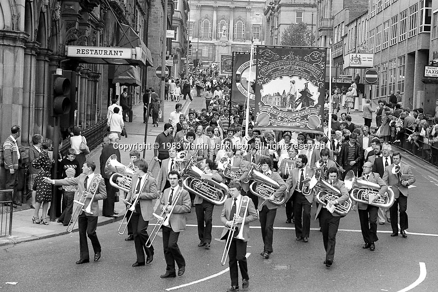 Nostell banner, 1983 Yorkshire Miner's Gala. Barnsley