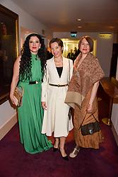 Left to right, Olga Balakleets, Natasha Tsukanova and Marianna Kozintseva at the Russian Ballet Icons Gala, The London Coliseum, St.Martin's Lane, London,  England. 12 March 2017.