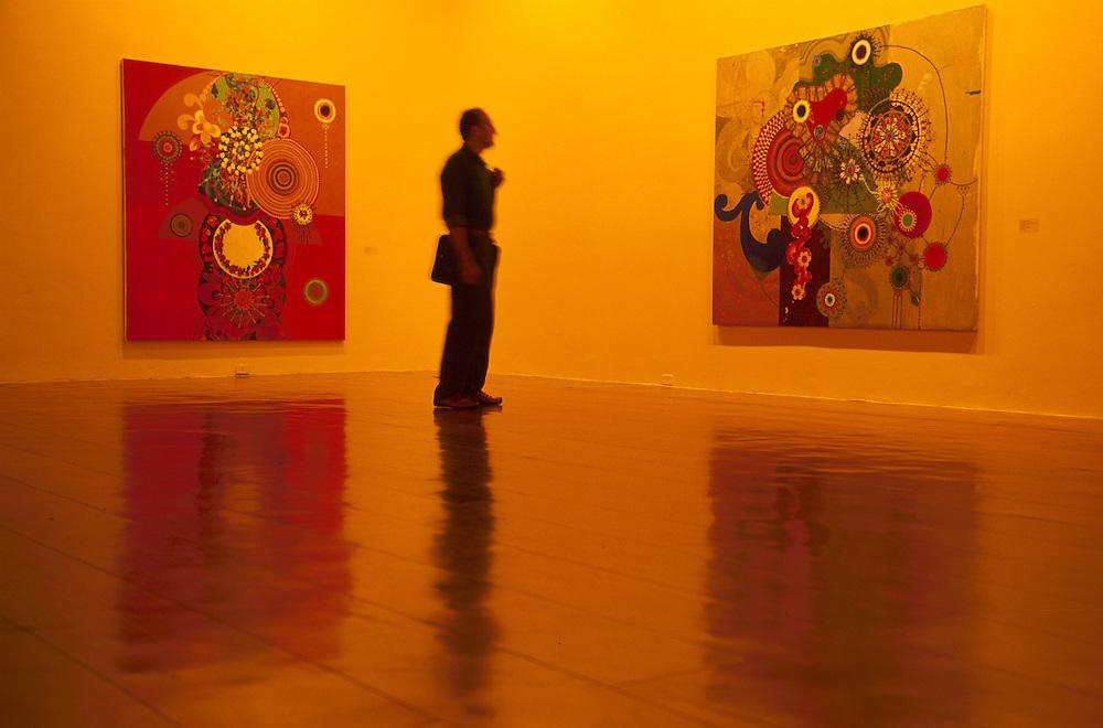 show of Beatriz Milhazes at Banco do Brazil.Rio de Janeiro.Brazil