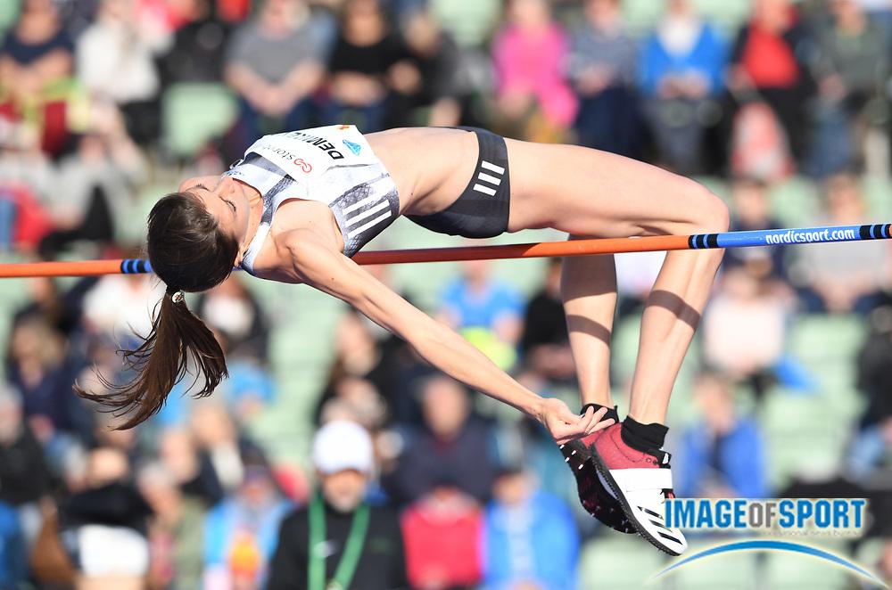Mirela Demireva (BUL) places third in the women's high jump at 6-4¼ (1.94m) during the 54th  Bislett Games in an IAAF Diamond League meet in Oslo, Norway, Thursday, June 13, 2019. (Jiro Mochizuki/Image of Sport)