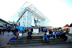 Fans gather round the Billy Bremner Statue outside Elland Road, home to Leeds United  - Mandatory by-line: Robbie Stephenson/JMP - 09/08/2017 - FOOTBALL - Elland Road - Leeds, England - Leeds United v Port Vale - Carabao Cup