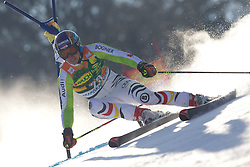 Felix Neureuther of Germany during  1st Run of Men's Giant Slalom of FIS Ski World Cup Alpine Kranjska Gora, on March 5, 2011 in Vitranc/Podkoren, Kranjska Gora, Slovenia.  (Photo By Vid Ponikvar / Sportida.com)
