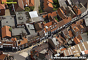 aerial photograph of  Goodramgate York Yorkshire England UK   Drone style aerial view taken in York Great Britain