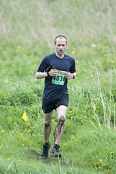 """(Kingston, Ontario---16/05/09) """"Leo Viger-Bernard finished 6 in the men's 10-12 km Enduro Race at the 2009 Salomon 5 Peaks Trail Running series Race held in Kingston, Ontario as part of the Eastern Ontario/Quebec division.""""  Copyright photograph Sean Burges/Mundo Sport Images, 2009. www.mundosportimages.com / www.msievents.com."""