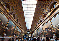 Palace of Versailles. The long paintings Gallery.