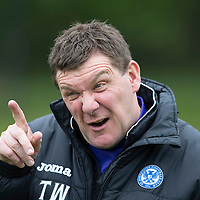 St Johnstone Training...10.05.14<br /> Manager Tommy Wright pictured during training<br /> Picture by Graeme Hart.<br /> Copyright Perthshire Picture Agency<br /> Tel: 01738 623350  Mobile: 07990 594431