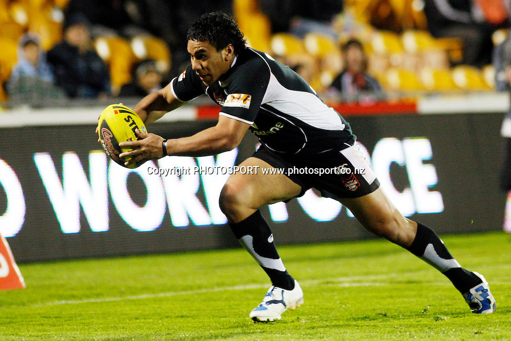 U20 Warriors wing George Vuna scores. Toyota Cup, U20 Warriors v U20 Storm. Mt Smart Stadium, Auckland, New Zealand. Saturday 5 September 2009. Photo: Andrew Cornaga/PHOTOSPORT<br />
