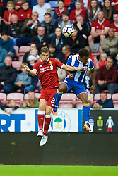 WIGAN, ENGLAND - Friday, July 14, 2017: Liverpool's Jon Flanagan in action against Wigan Athletic during a preseason friendly match at the DW Stadium. (Pic by David Rawcliffe/Propaganda)