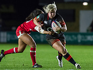 Marlie Packer in action, England Women v Canada in an Autumn International match at The Stoop, Twickenham, London, England, on 21st November 2017 Final score 49-12