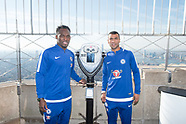 Empire State Building hosts former Chelsea FC legends Ashley Cole and Michael Essien - 27 Nov 2017