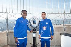 Empire State Building hosts former Chelsea FC legends Ashley Cole and Michael Essien - 27 Nov 2017