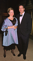 MR & MRS CHARLES SAATCHI he is the advertising supremo and arts patron, at a banquet in Surrey on 12th November 1998.MLX 57