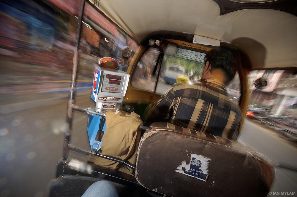 Inside an Auto-Rickshaw - Bangalore, India