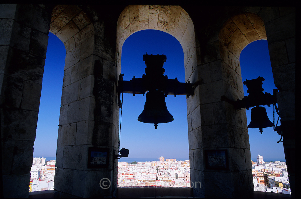 Inside the Cathedral bell tower, Cadiz, Spain