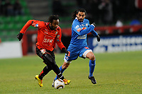 FOOTBALL - FOOT - FRENCH CUP - 2009/2010 - 100109 - RENNES v CAEN -  PHOTO PASCAL ALLEE / HOT SPORTS - JIRES KEMBO EKOKO (RENNES) / JUAN ELUCHAN (CAEN)
