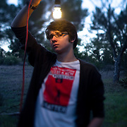 """Portrait of Alec Loorz, a teenage environmental activist. A light went on after he watched """"The Inconvenient Truth"""" and he started his career as environmental activist at age 12 while still in middle school. Loorz now travels the country as a speaker."""