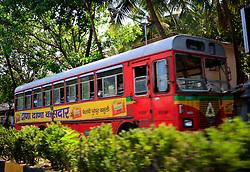 INDIA MUMBAI 30MAY10 - CNG-powered commuter bus in Juhu District, Mumbai, India...jre/Photo by Jiri Rezac..© Jiri Rezac 2010