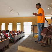 Masresha Andage ED address the gathered health workers at the AISDA District Level Conference. The men and women all work on the FGM programme . The programme has been running for 3 months out of 12 and its time to evaluated the progress and discuss any issues.   Action for Integrated Sustainable Development Association (AISDA) work in the AFAR region of Eastern Ethiopia, based in Delafagi. The Afars practise an old tradition of Female Genital Mutilation where the baby girls has her clitoris and labia cut away and her vagina sewn up. The day before her wedding day the girl is un-stiched ready for marriage. Its a brutal and barbaric tradition which AISDA is challenging with great effect, now more than a hundred girls in Dowe district have been saved from the knife and AISDA is now rolling out the scheme in Delafagi. Delafagi is where the oldest ever human remains have been found, the found is thought to be 4.5 mill years old.