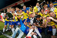 Onderwerp/Subject: Cambuur Leeuwarden - Jupiler League<br /> Reklame:  <br /> Club/Team/Country: <br /> Seizoen/Season: 2012/2013<br /> FOTO/PHOTO: F.L.T.R (BOTTOM): Sicco BOUWER of Cambuur Leeuwarden and Martijn BARTO of Cambuur Leeuwarden and Goalkeeper Rodney UBBERGEN of Cambuur Leeuwarden and Mark DIEMERS of Cambuur Leeuwarden and Oebele SCHOKKER of Cambuur Leeuwarden F.L.T.R (TOP) Wout DROSTE of Cambuur Leeuwarden and Adnane TIGHADOUINI of Cambuur Leeuwarden and Lucas BIJKER of Cambuur Leeuwarden and Melvin DE LEEUW of Cambuur Leeuwarden and Tim KEURNTJES of Cambuur Leeuwarden and Yuris ROSE ( Yuri ROSE ) of Cambuur Leeuwarden and Tim BAKENS of Cambuur Leeuwarden and Erik BAKKER of Cambuur Leeuwarden and Team Manager Rob PROPSMA of Cambuur Leeuwarden and Michiel HEMMEN of Cambuur Leeuwarden and Leon BROEKHOF of Cambuur Leeuwarden celebrating Jupiler League Championship and promotion to Eredivisie with the Trophy. (Photo by PICS UNITED)<br /> <br /> Trefwoorden/Keywords: <br /> #02 #18 $94 &plusmn;1367598354739<br /> Photo- &amp; Copyrights &copy; PICS UNITED <br /> P.O. Box 7164 - 5605 BE  EINDHOVEN (THE NETHERLANDS) <br /> Phone +31 (0)40 296 28 00 <br /> Fax +31 (0) 40 248 47 43 <br /> http://www.pics-united.com <br /> e-mail : sales@pics-united.com (If you would like to raise any issues regarding any aspects of products / service of PICS UNITED) or <br /> e-mail : sales@pics-united.com   <br /> <br /> ATTENTIE: <br /> Publicatie ook bij aanbieding door derden is slechts toegestaan na verkregen toestemming van Pics United. <br /> VOLLEDIGE NAAMSVERMELDING IS VERPLICHT! (&copy; PICS UNITED/Naam Fotograaf, zie veld 4 van de bestandsinfo 'credits') <br /> ATTENTION:  <br /> &copy; Pics United. Reproduction/publication of this photo by any parties is only permitted after authorisation is sought and obtained from  PICS UNITED- THE NETHERLANDS