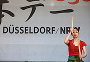 Every Year in June, almost a million people celebrates Japan Day in Düsseldorf, together with the city's Japanese expatriat community which is the biggest in Germany. Traditional Japanese music by Ensemble OTONE (Berlin). Taiko Drummer Nobuyo.