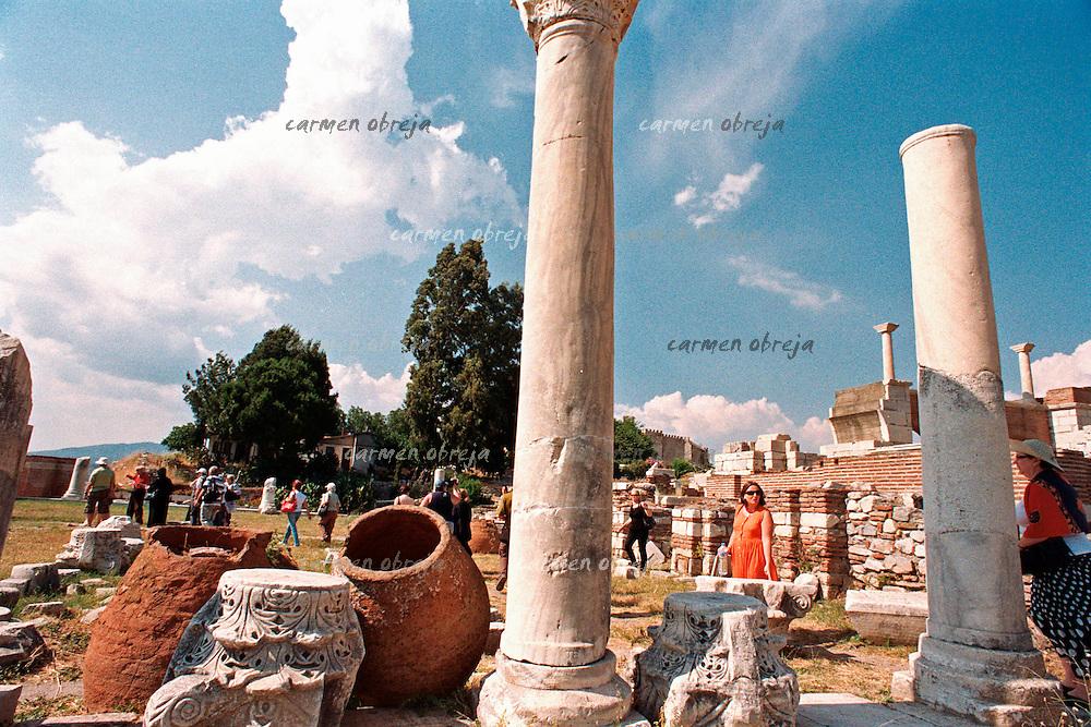 pilgrims at St. John's Tomb in Selcuk, Ephesus