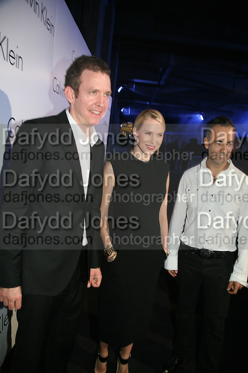 Martin Creed, Naomi Watts and Francisco Costa, Collaborative Presentation with artist Martin Creed of Calvin Klein's new collection at P3, Marylebone Road October 15, 2007 -DO NOT ARCHIVE-© Copyright Photograph by Dafydd Jones. 248 Clapham Rd. London SW9 0PZ. Tel 0207 820 0771. www.dafjones.com.