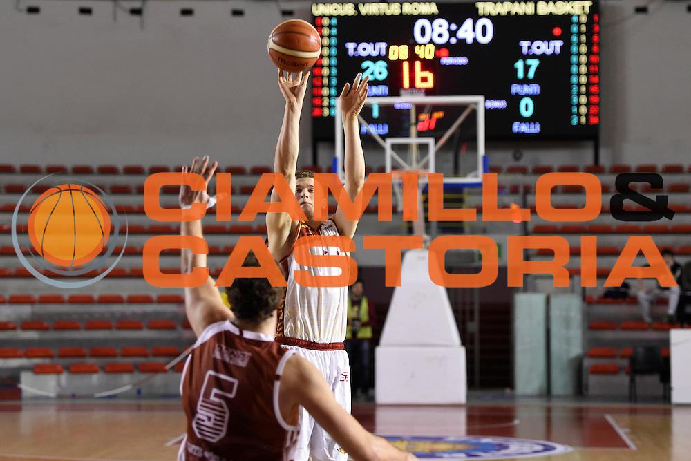 Gabriele Benetti<br /> Unicusano Roma - Lighthouse Trapani<br /> Campionato Basket LNP 2016/2017<br /> Roma 08/12/2016<br /> Foto Ciamillo-Castoria