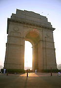 india gate in the evening sun, delhi, india