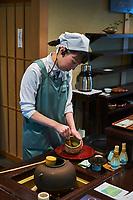 Japon, île de Honshu, région de Kansaï, Kyoto, Ippodo est la plus ancienne maison de thé de Kyoto, thé matcha // Japan, Honshu island, Kansai region, Kyoto, Ippodo, the oldest tea house of Kyoto, matcha tea