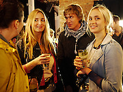 COUNTESS GIADA DOBRZENSKY;  HUGO WILSON; PRINCESS MARIA THURN UND TAXIS; PRINCESS ELIZABETH THURN UND TAX, The launch of the Peroni Nastro Azzurro Accademia del Film Wrap Party Tour. Brick Lane. 25 August 2010. -DO NOT ARCHIVE-© Copyright Photograph by Dafydd Jones. 248 Clapham Rd. London SW9 0PZ. Tel 0207 820 0771. www.dafjones.com.