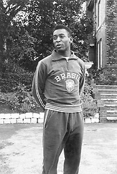 The Brazilian football player Pele wearing the national track suit after going out of the World football Championship in Great Britain. Lymm, July 1966 (Credit Image: © Mondadori Portfolio via ZUMA Press)