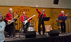 """Homecoming Festival featuring a reunion of """"The Deacons"""" held in the Chris Knutzen hall at PLU on Saturday, Oct. 4, 2014. (PLU Photo/John Froschauer)"""