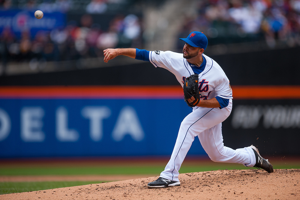 NEW YORK - JUNE 04: Dillon Gee #35 of the New York Mets pitches during the game against the St. Louis Cardinals at Citi Field on June 4, 2012 in the Queens borough of Manhattan. (Photo by Rob Tringali) *** Local Caption *** Dillion Gee