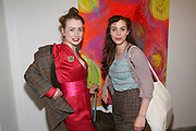 Sex columnist Millicent Binks; Annette Bette. Welcome to Mollywood. New paintings by Molly Parkin. RED, 1-3 rivington st. london. 27 April 2011. <br /> <br /> -DO NOT ARCHIVE-© Copyright Photograph by Dafydd Jones. 248 Clapham Rd. London SW9 0PZ. Tel 0207 820 0771. www.dafjones.com.
