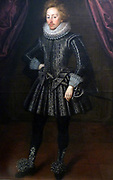 Portrait of Dudley, 3rd Baron North about 1630. Oil on canvas. Dudley North (1581-1666) was a leading figure of the court of James 1.Although Lord North would have posed for the head to be painted, it  was common for clothes to be painted later.