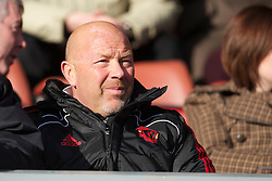 LIVERPOOL, ENGLAND - Saturday, January 8, 2011: Liverpool's Academy Director Frank McParland watches his side during the FA Youth Cup 4th Round match against Crystal Palace at Anfield. (Pic by: David Rawcliffe/Propaganda)