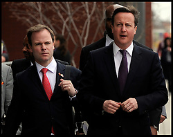 David Cameron's Spin Doctor Craig Oliver with the Prime Minister David Cameron on a walk about in Newark, USA, March 2012. Photo by i-ImagesDavid Cameron's Spin Doctor Craig Oliver with the Prime Minister David Cameron on a walk about in Newark, USA, March 2012. Photo by i-Images