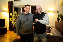 Saso Filipovski, head coach of basketball club Stelmet BC Zielona Gora (POL) at his home with journalist Lojze Grcman of Siol Sportal, on January 21, 2016 in Zielona Gora, Poland. Photo by Vid Ponikvar / Sportida