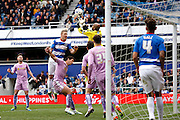 Reading goalkeeper Ali Al Habsi (26) claims the ball in his 6 yard box during the Sky Bet Championship match between Queens Park Rangers and Reading at the Loftus Road Stadium, London, England on 23 April 2016. Photo by Andy Walter.