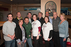 Several of the blizzard organizers gathered at the Venus II for the presentation of the benefit's proceeds.