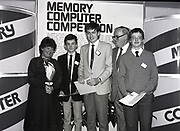 Presentation of Memory Computer Schools Competition prizes at Greshan Hotel, 23rd O'Connell Street Upper, Dublin,<br /> 16th May 1984