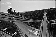 Life On The Bridge, Workers on Clifton Suspension Bridge, 1986